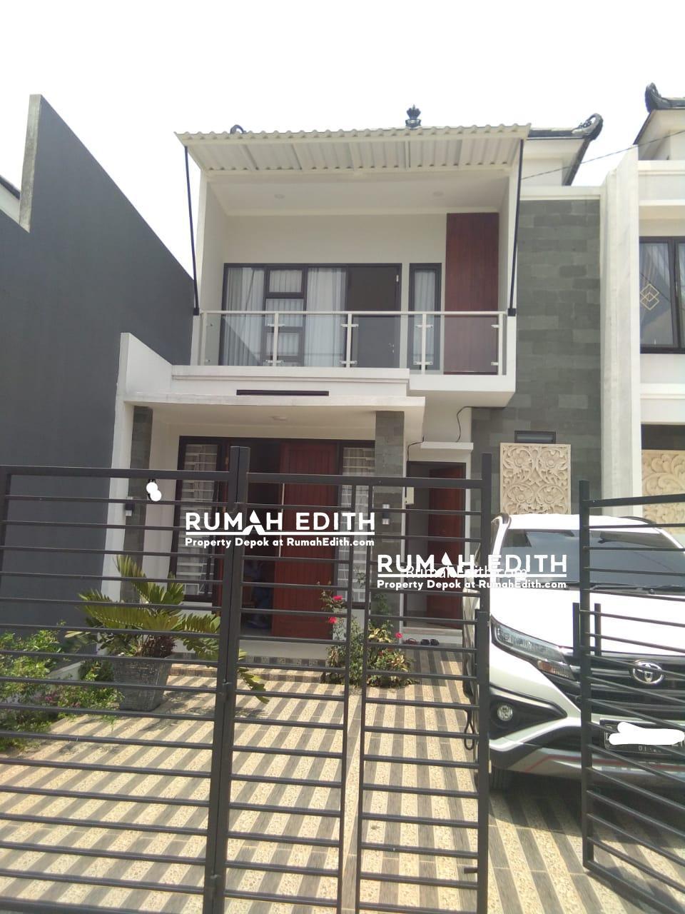 Dijual Rumah di Harjamukti Cibubur, Cantik Desain Modern 2 lantai  1,8 M