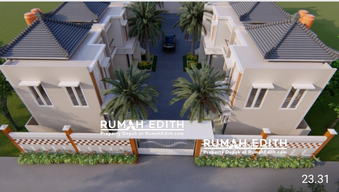 Rumah Cantik 2 Lantai dalam Kluster di Kelapa Dua Depok 750 juta 2