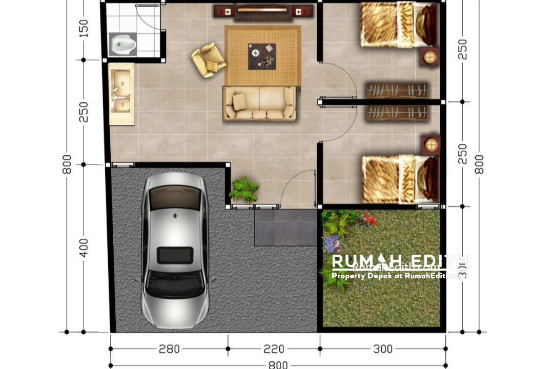 rumah edith Cluster 2 lantai nempel kawasan GDC free biaya2, booking 5 juta 500 jutaan 6