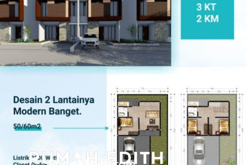rumah edith Cluster 2 lantai nempel kawasan GDC free biaya2, booking 5 juta 500 jutaan 7