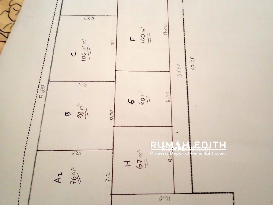 rumah edith Kavling siap bangun 3 jt per meter strategis di Rangkapan Jaya Depok 5