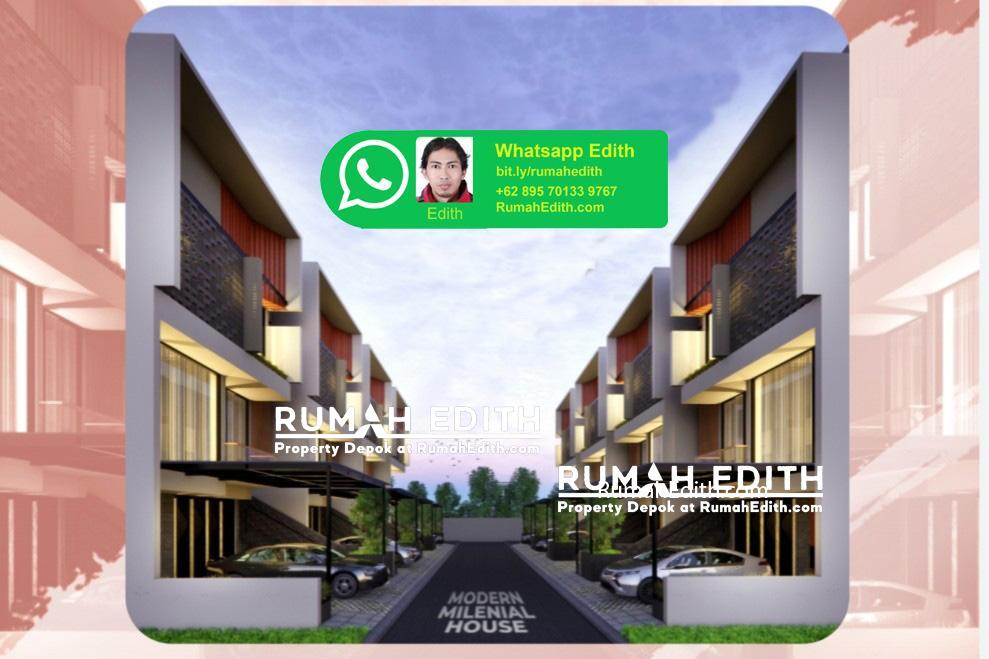 Dijual Rumah di Ciganjur Jagakarsa Jaksel, 3 lantai dalam cluster 1.95 M