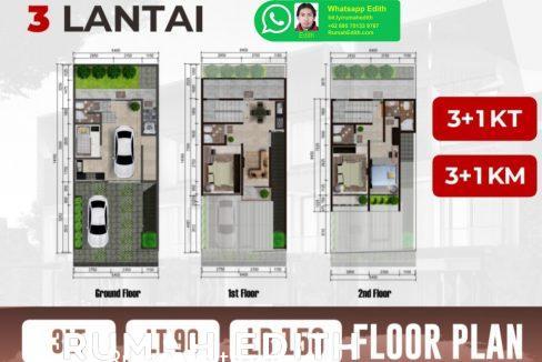 rumah-edith-Rumah-Baru-3-lantai-dalam-cluster-1.95-M-Ciganjur-Jagakarsa-Jaksel-3wa