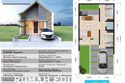 rumah edith Rumah Muslim Cantik dan Minimalis Dramaga 300 jutaan Tanpa Bank 10