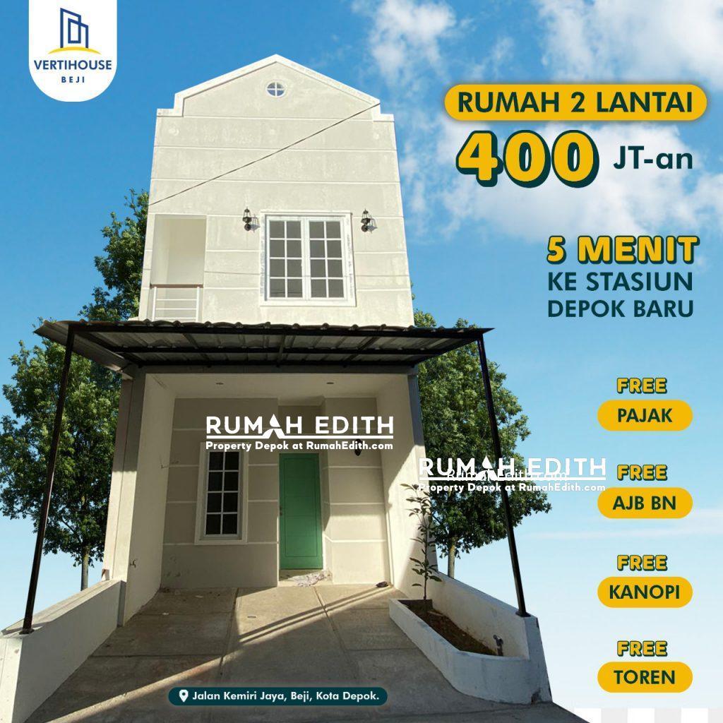 rumah edith Rumah baru 2 lantai dalam kluster di beji depok 470juta hanya 15 unit