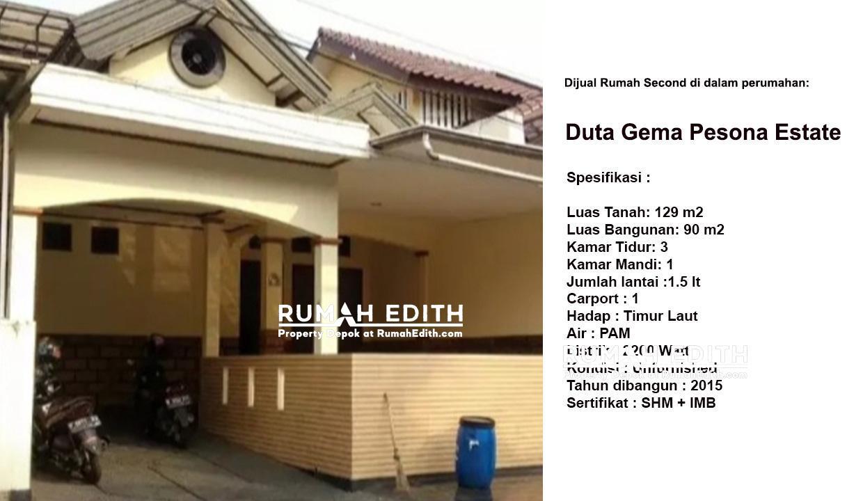Dijual Rumah Second di Duta Gema Pesona Depok 1.5 Lantai, 1.4 M