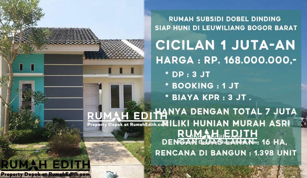 rumah edith Rumah subsidi dobel dinding siap huni di leuwiliang Bogor Barat