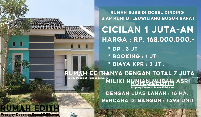 Rumah subsidi dobel dinding siap huni di leuwiliang Bogor Barat 1