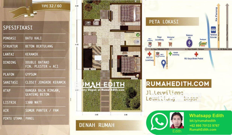 Rumah subsidi dobel dinding siap huni di leuwiliang Bogor Barat 11