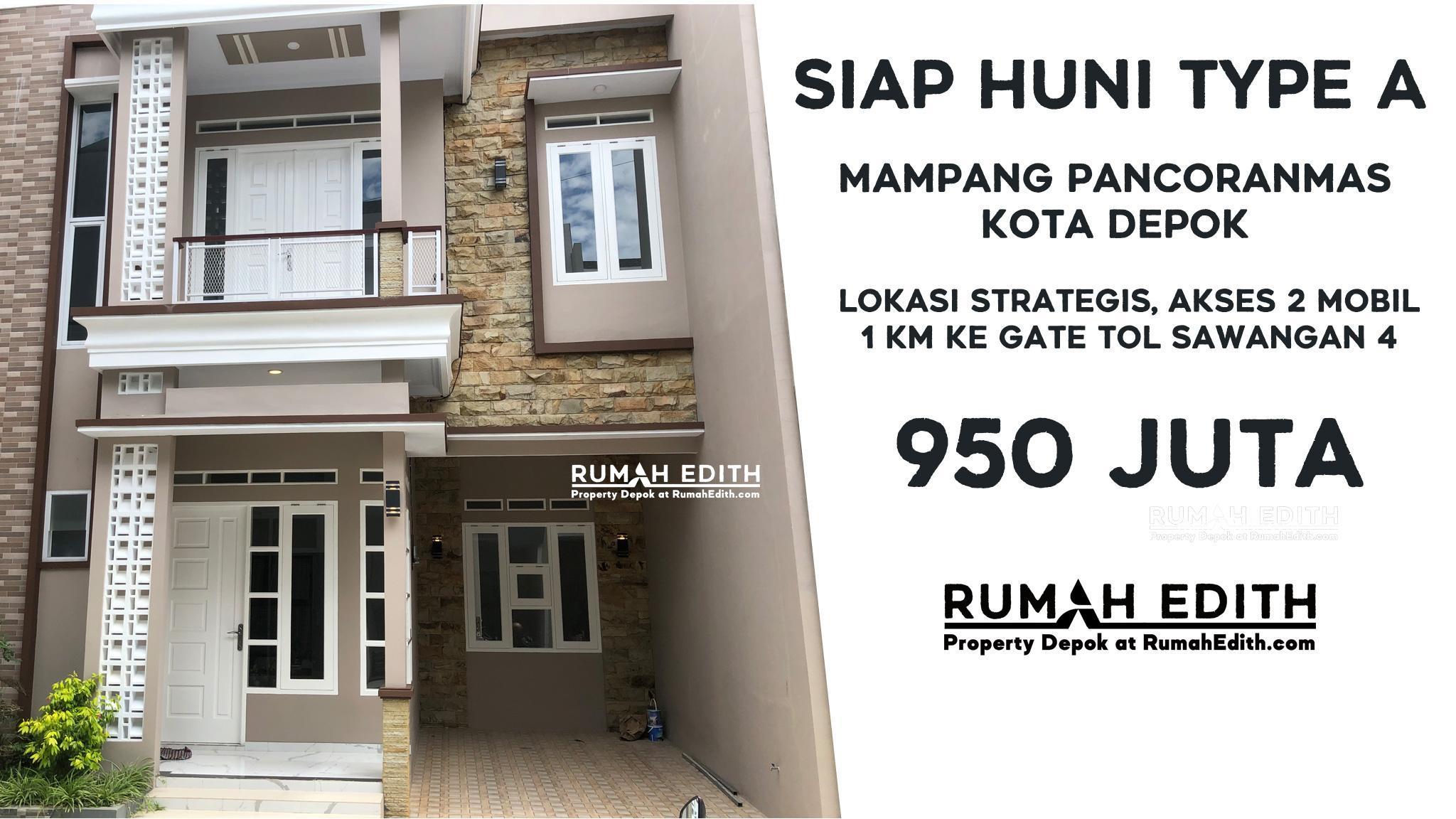 Dijual Rumah di Mampang Depok, 2 lantai dalam mini cluster 950 juta – Siap Huni