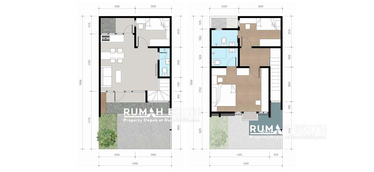 Denah Type Suites