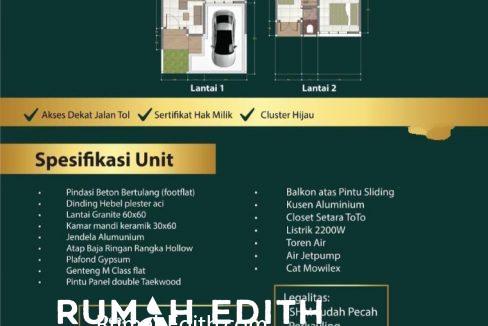 Dijual Cluster Exclusive Di Margonda Depok Murah Dan Bebas Banjir rumah edith 2