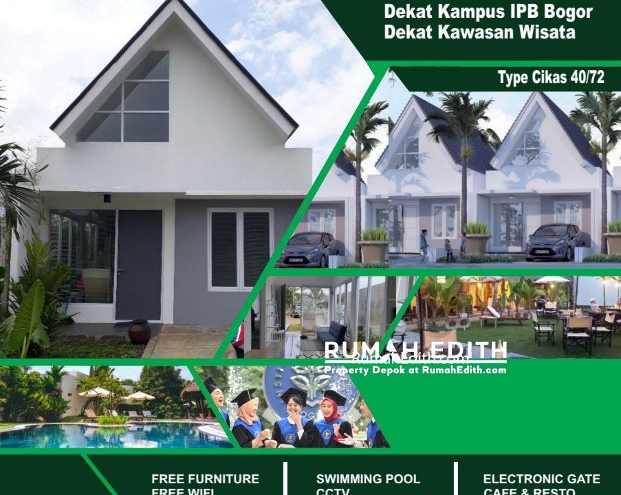 Dijual Cluster di Dramaga Bogor, Dekat Kampus IPB, Harga Promo Rp 283 juta rumah edith 3