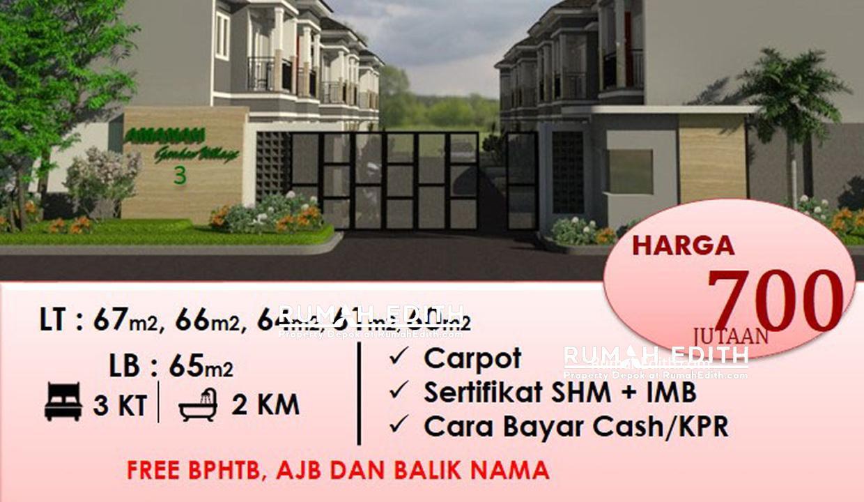 Dijual-Townhouse-Syariah-di-Pamulang-Tangerang-Selatan,-2-Lantai-1x