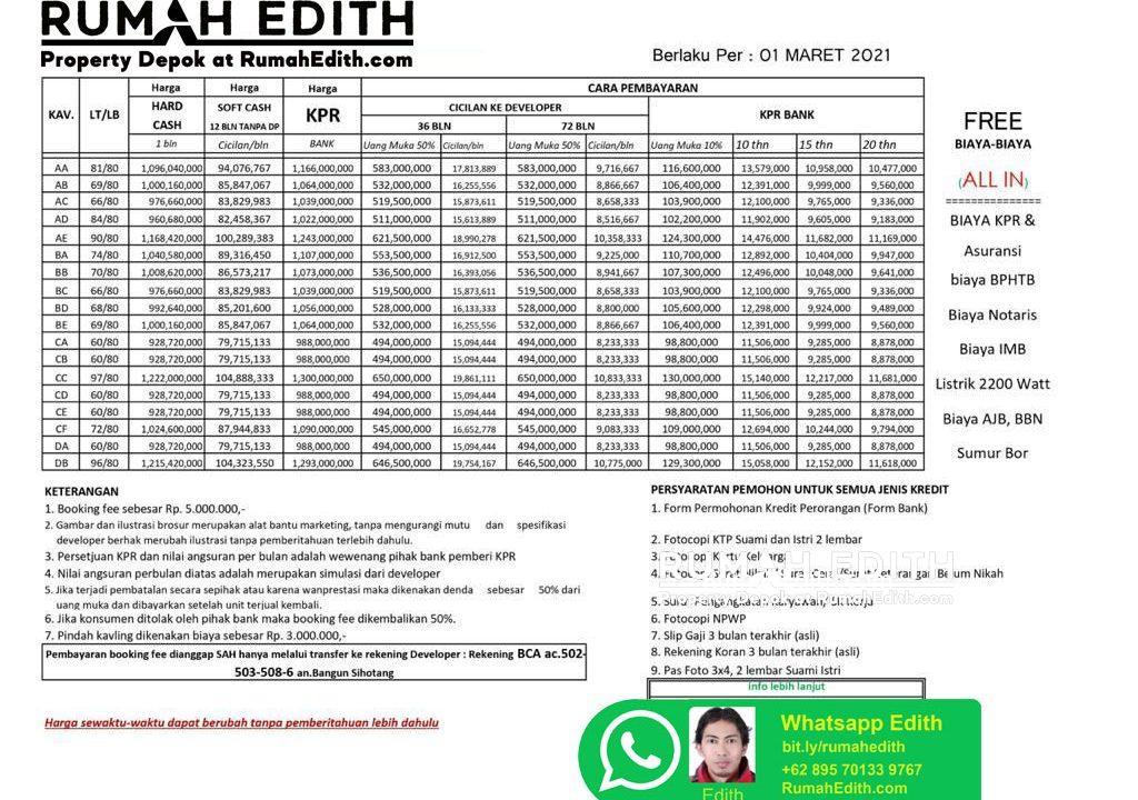 rumah-edith-margonda-Dijual-Cluster-Exclusive-Di-Margonda-Depok-Murah-Dan-Bebas-Banjir-2