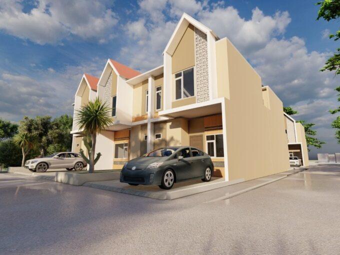 Rumah Baru Rp 975 Juta, 2 Lnt, di Beji, Depok. LT 60 m², 3 KT, 3 KM.